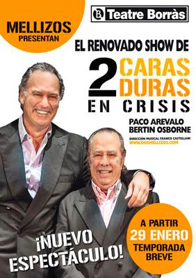Dos caras duras en crisis → Teatre Borras