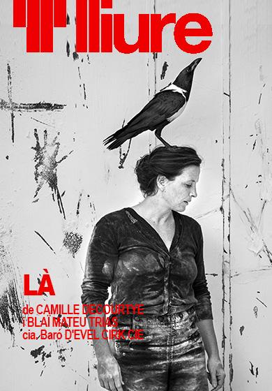 """Resultat d'imatges de """"LÀ"""" Peça en blanc i negre per a dos humans i un corb, de Camille Decourtye i Blaï Mateu Trias, cia. BARÓ D'EVEL"""