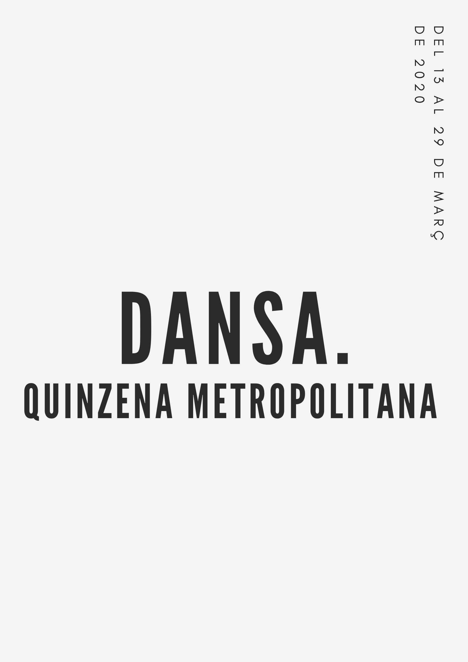 QUINZENA DE LA DANSA METROPOLITANA